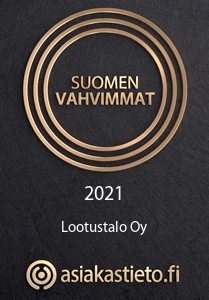 Lootustalo kuuluu Suomen vahvimpiin yrityksiin